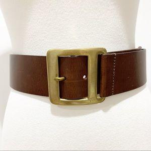 J. Crew brown Genuine leather made England belt